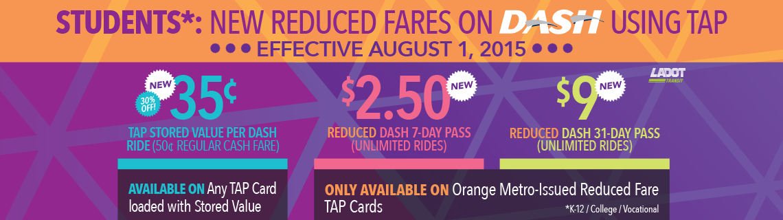 Students: Reduced Fares on DASH Using TAP